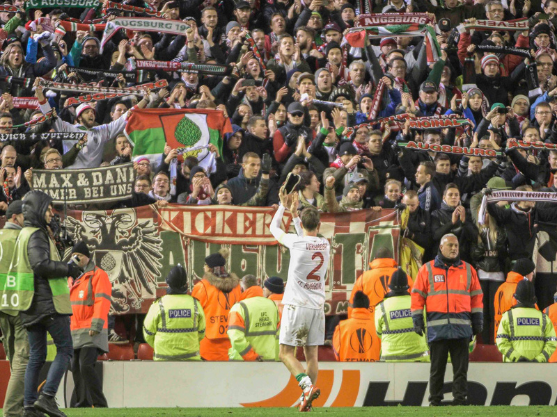ENG Europa League Zwischenrunde Liverpool FC vs FC Augsburg 25 02 2016 Anfield Road Liverpool