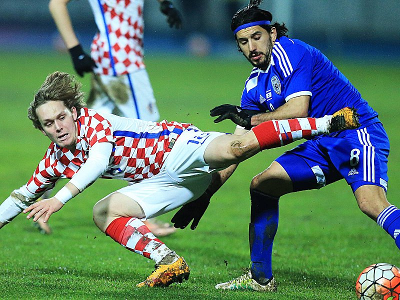 EURO 2016 warm up friendly match Croatia Israel 23 03 2016 Osijek Croatia Stadium Gradski vr