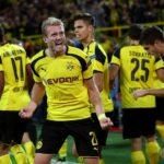 DORTMUND, GERMANY - SEPTEMBER 27:  Andre Schuerrle of Borussia Dortmund (21) celebrates as he scores their second goal during the UEFA Champions League Group F match between Borussia Dortmund and Real Madrid CF at Signal Iduna Park on September 27, 2016 in Dortmund, North Rhine-Westphalia.  (Photo by Alex Grimm/Bongarts/Getty Images)