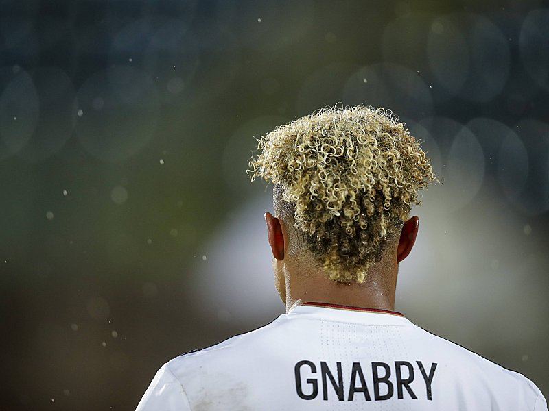 Serge GNABRY DFB 8 one person portrait single half size hair SAN MARINO GERMANY 0 8 World Cup