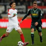AUGSBURG, GERMANY - DECEMBER 17:  Takashi Usami of Augsburg in action during the Bundesliga match between FC Augsburg and Borussia Moenchengladbach at WWK Arena on December 17, 2016 in Augsburg, Germany.  (Photo by Adam Pretty/Bongarts/Getty Images)