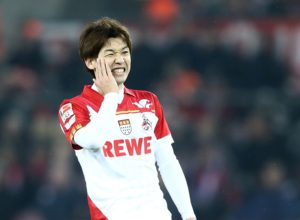 COLOGNE, GERMANY - FEBRUARY 19:  Yuya Osako of Koeln reacst to a missed chance during the Bundesliga match between 1. FC Koeln and FC Schalke 04 at RheinEnergieStadion on February 19, 2017 in Cologne, Germany.  (Photo by Alex Grimm/Bongarts/Getty Images)