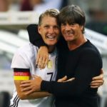 MOENCHENGLADBACH, GERMANY - AUGUST 31:  Bastian Schweinsteiger of Germany hugs Joachim Loew, coach of Germany after being substituted during the International Friendly match between Germany and Finland at Borussia-Park on August 31, 2016 in Moenchengladbach, Germany.  (Photo by Lars Baron/Bongarts/Getty Images)