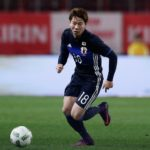 KASHIMA, JAPAN - NOVEMBER 11:  Takuma Asano of Japan in action during the international friendly match between Japan and Oman at Kashima Soccer Stadium on November 11, 2016 in Kashima, Ibaraki, Japan.  (Photo by Yuya Shino/Getty Images)