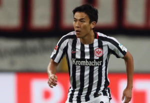 FRANKFURT AM MAIN, GERMANY - FEBRUARY 05:  Makoto Hasebe of Frankfurt controles the ball during the Bundesliga match between Eintracht Frankfurt and SV Darmstadt 98 at Commerzbank-Arena on February 5, 2017 in Frankfurt am Main, Germany.  (Photo by Alex Grimm/Bongarts/Getty Images)