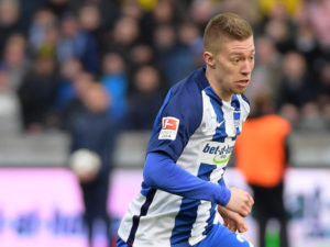 BERLIN, GERMANY - MARCH 11: Mitchell Weiser of Hertha BSC during the Bundesliga match between Hertha BSC and Borussia Dortmund at the Olympiastadion on march 11, 2017 in Berlin, Germany. (Photo by City-Press via Getty Images)