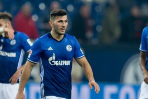 GELSENKIRCHEN, GERMANY - JANUARY 27: Sead Kolasinac of Schalke disappointede during the Bundesliga match between FC Schalke 04 and Eintracht Frankfurt at Veltins-Arena on January 27, 2017 in Gelsenkirchen, Germany. (Photo by TF-Images/Getty Images)