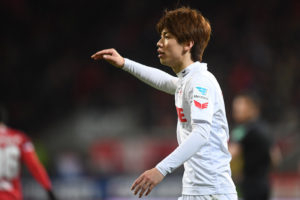 INGOLSTADT, GERMANY - MARCH 11: Yuya Osako of 1. FC Koeln reacts during the Bundesliga match between FC Ingolstadt 04 and 1. FC Koeln at Audi Sportpark on March 11, 2017 in Ingolstadt, Germany. (Photo by Lennart Preiss/Bongarts/Getty Images)