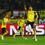 DORTMUND, GERMANY - APRIL 12:  Shinji Kagawa of Borussia Dortmund celebrates after scoring his team's second goal of the game during the UEFA Champions League Quarter Final first leg match between Borussia Dortmund and AS Monaco at Signal Iduna Park on April 12, 2017 in Dortmund, Germany. The match was rescheduled after an alleged terrorist attack on the Borussia Dortmund team coach as it made it's way to the stadium.  (Photo by Dean Mouhtaropoulos/Bongarts/Getty Images)