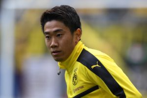 DORTMUND, GERMANY - APRIL 15: Shinji Kagawa of Borussia Dortmund warms up prior to the Bundesliga match between Borussia Dortmund and Eintracht Frankfurt at Signal Iduna Park on April 15, 2017 in Dortmund, Germany. (Photo by Etsuo Hara/Getty Images)