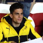MONACO, MONACO - APRIL 19: Marc Bartra of Dortmund, injured a week ago during the team's bus attack, looks on from the bench before the UEFA Champions League quarter final second leg match between AS Monaco and Borussia Dortmund (BVB) at Stade Louis II on April 19, 2017 in Monaco, Monaco. (Photo by Jean Catuffe/Getty Images)