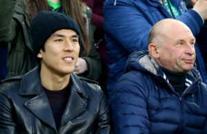 MOENCHENGLADBACH, GERMANY - APRIL 25: Makoto Hasebe of Frankfurt is seen during the DFB Cup semi final match between Borussia Moenchengladbach and Eintracht Frankfurt at Borussia-Park on April 25, 2017 in Moenchengladbach, Germany.  (Photo by Christof Koepsel/Bongarts/Getty Images)