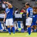 KARLSRUHE, GERMANY - APRIL 29: Erwin Hoffer of Karlsruhe and Hiroki Yamada of Karlsruhe are disappointed during the Second Bundesliga match between Karlsruher SC and 1. FC Kaiserslautern at Wildparkstadion on April 29, 2017 in Karlsruhe, Germany. (Photo by Alexander Scheuber/Bongarts/Getty Images)