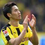 DORTMUND, GERMANY - APRIL 15: Shinji Kagawa of Borussia Dortmund applauds after his side's 3-1 victory after the Bundesliga match between Borussia Dortmund and Eintracht Frankfurt at Signal Iduna Park on April 15, 2017 in Dortmund, Germany. (Photo by Etsuo Hara/Getty Images)