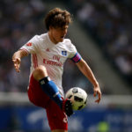 HAMBURG, GERMANY - MAY 20: Gotoku Sakai of HSV during the Bundesliga match between Hamburger SV and VfL Wolfsburg at Volksparkstadion on May 20, 2017 in Hamburg, Germany. (Photo by Selim Sudheimer/Bongarts/Getty Images)